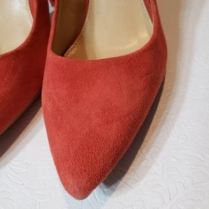 Michael Kors rust colored  suede shoes